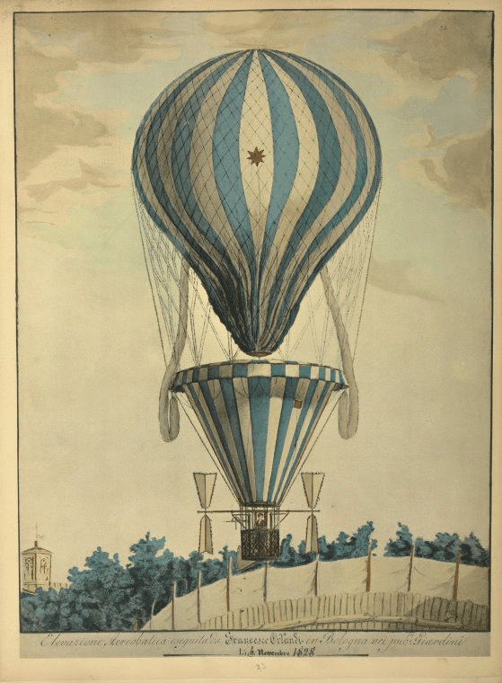 Great Vintage Hot Air Balloon Art | Four Winds