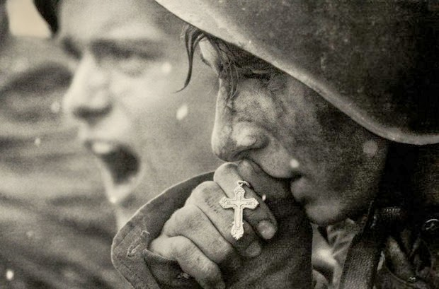 Russian soldiers preparing for the Battle of Kursk