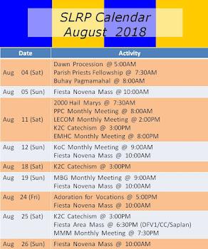 SLRP Calendar 2018