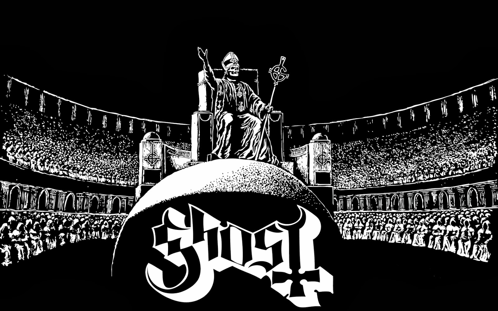 gallery for ghost band wallpaper