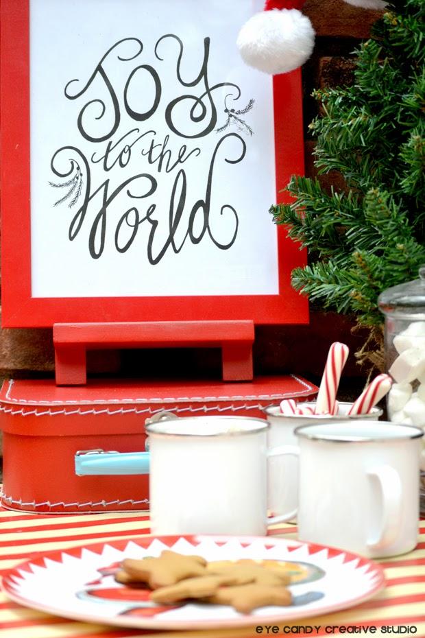 hand lettering, christmas art prints, joy to the world, hand lettered art