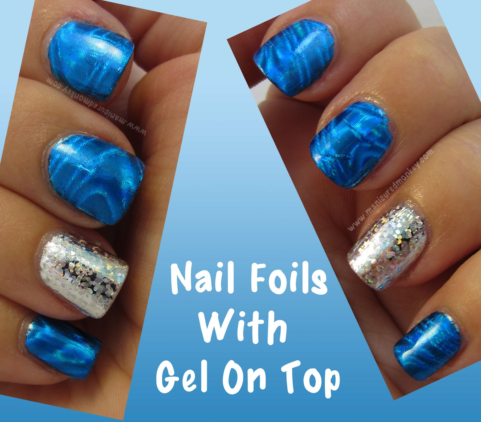 The Manicured Monkey: Nail Foils with Gel