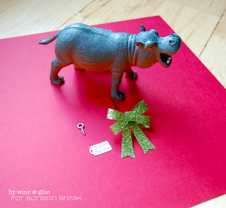 I Want a Hippopotamus Christmas Ornament by Lisa Longley of Wine & Glue hippopotamus ornament
