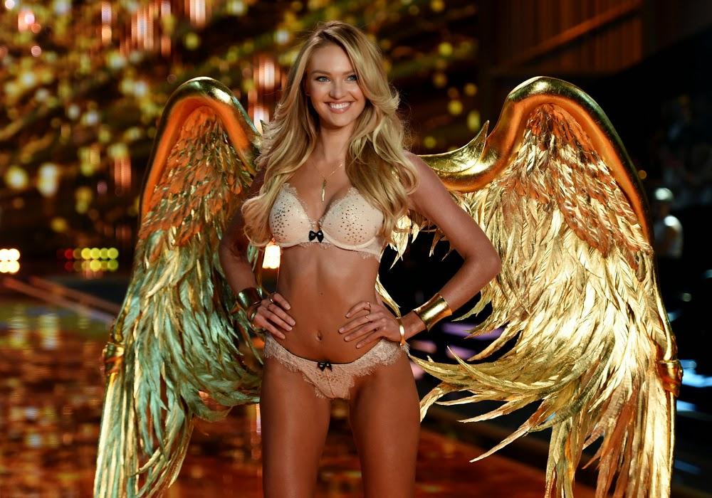 Los ángeles de Victoria´s Secret: Las mujeres más bellas del mundo con los cuerpos más perfectos, pasean palmito en ropa interior. Chicas guapas 1x2.