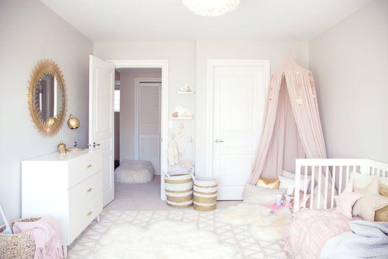 Une chambre de bébé rose poudré  Univers des enfants
