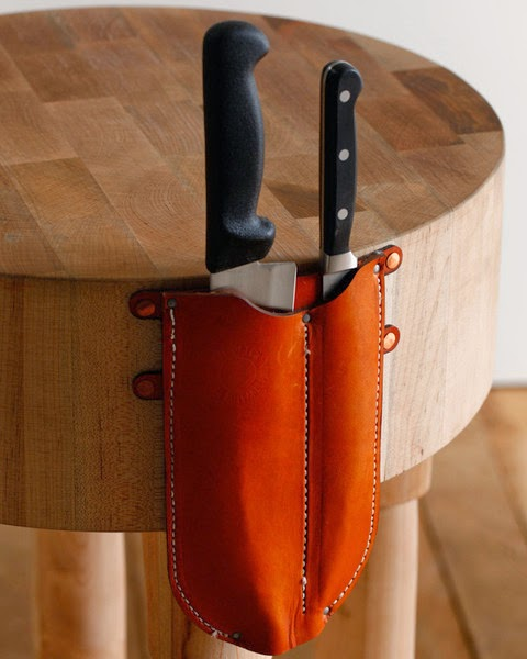 Butchers Block with Knife Sheath