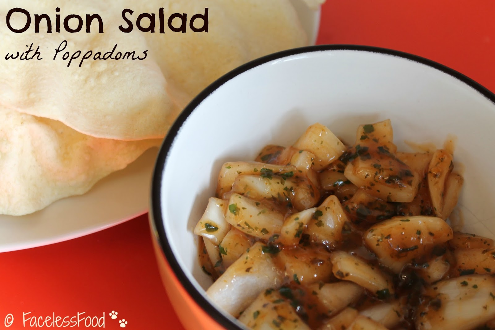 how to make onion salad for poppadoms