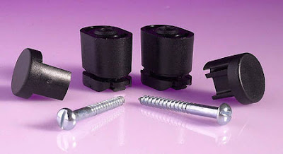 The MTF101 Microlux Black Track Fixing Kit for the Powerlite Track System