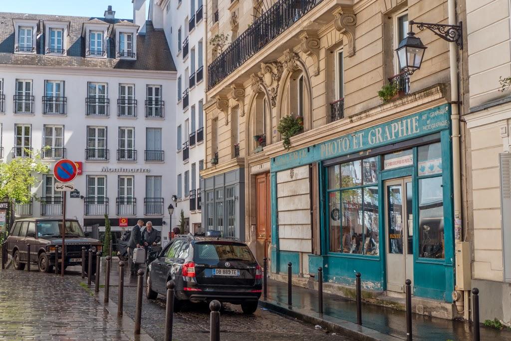 Paris France Montmartre street architecture