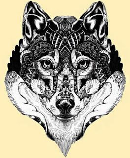 Imagem de lobo para tatuar