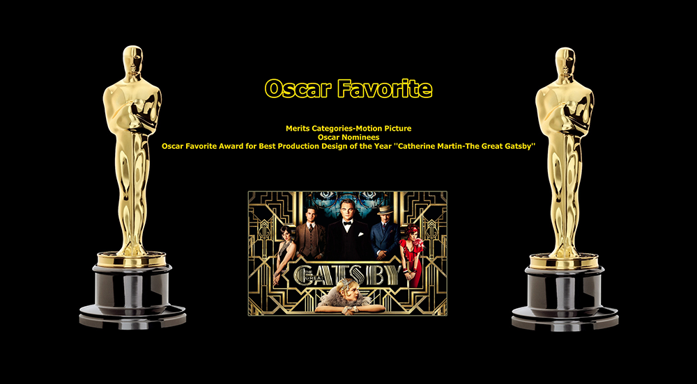oscar favorite best production design award catherine martin the great gatsby