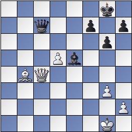Partida Alekhine - Valles en el IV Torneo Internacional de Ajedrez de Sabadell 1945, posición después de 37...Dc7