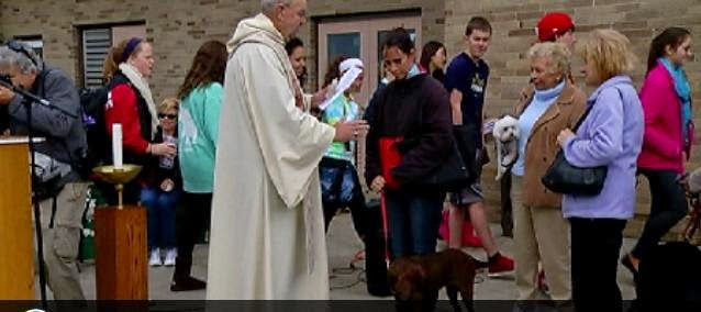 Pets Blessed for World Animal Day, Blessing of the Animals, blessing of the animals