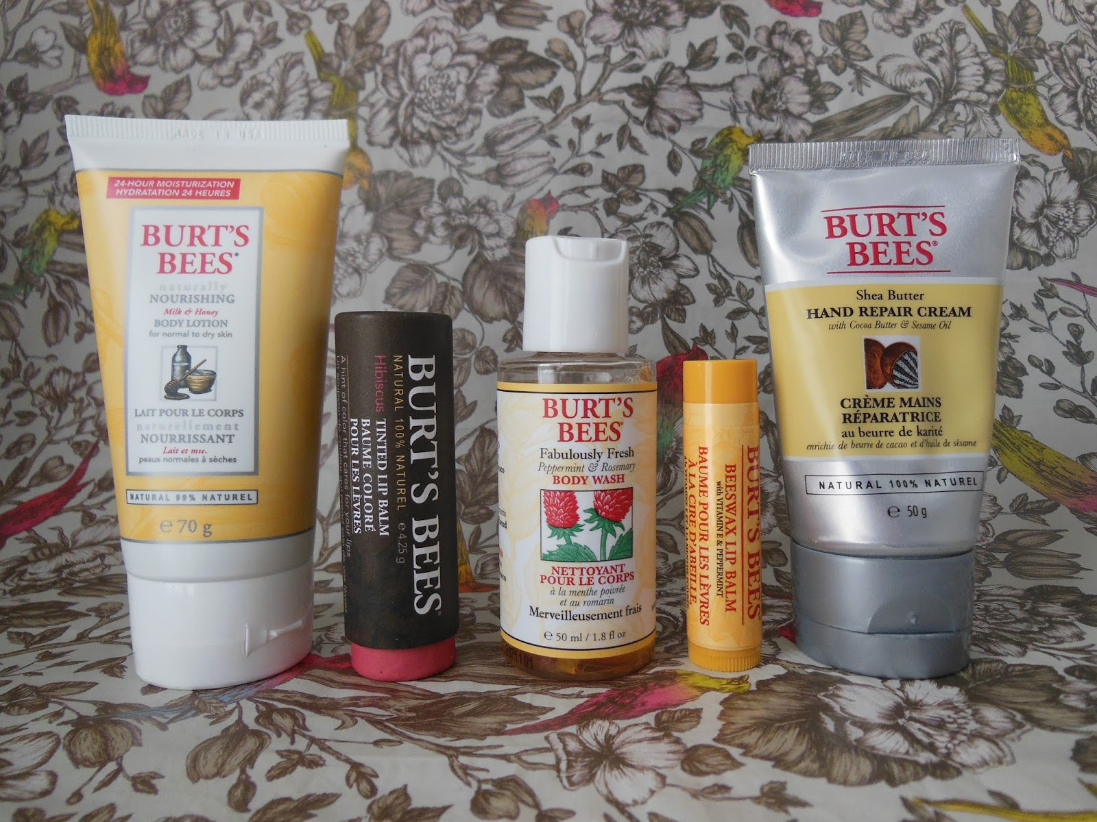 Burt's Bees Daily Indulgence collection  contents