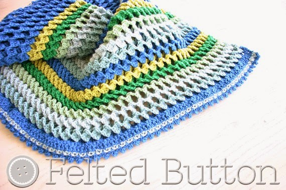 Irish Sea Blanket (crochet pattern by Susan Carlson of Felted Button)