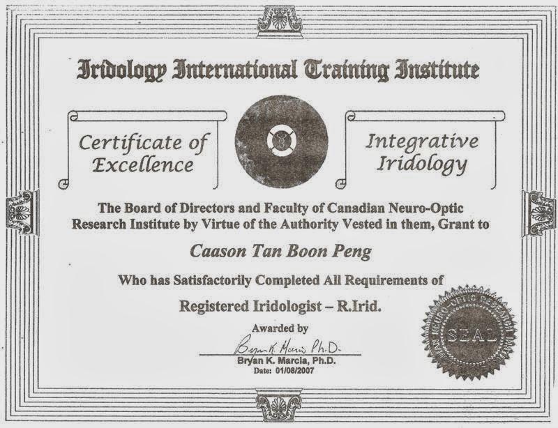 CNRI - Registered Iridologist - R.Irid