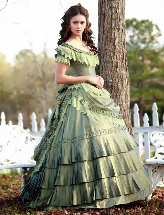 FlouncedLucia: Auftrag : Katherine Pierce 1864 Green Gown - Vampire ...