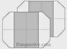 Bước 7: Hoàn thành cách xếp bánh gạo bằng giấy origami đơn giản