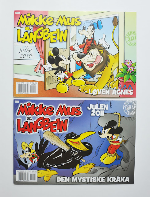 Norwegian Christmas comics with Casty covers