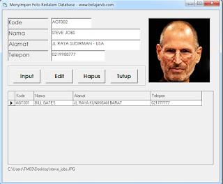 Cara Menyimpan Foto Kedalam Database VB 6.0