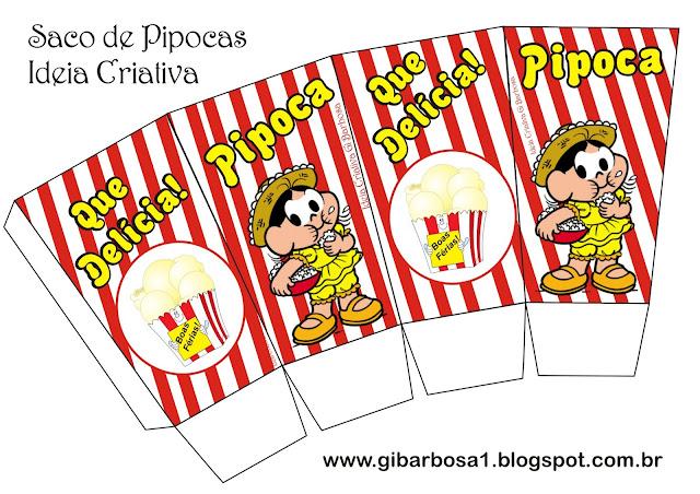 Saco de Pipocas Projeto Festas Juninas