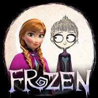 """Personajes de """"Frozen"""" al estilo Tim Burton"""