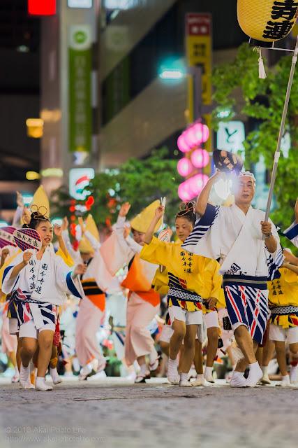 三鷹阿波踊り 国分寺連の高張提灯持ち手