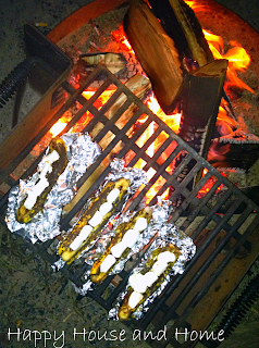 Banana recipe, Grilled Bananas, Bananas on Campfire, campfire
