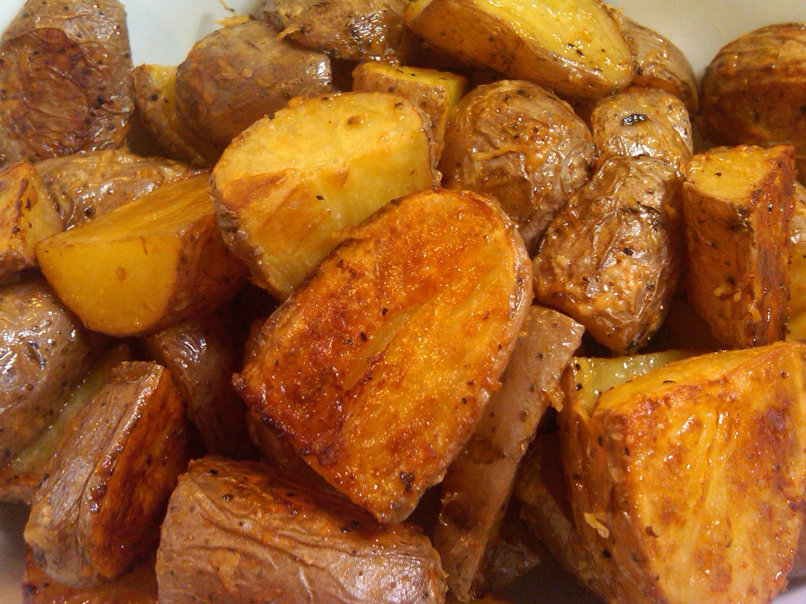 Michele's Woman Cave: Parmesan Roasted Potatoes