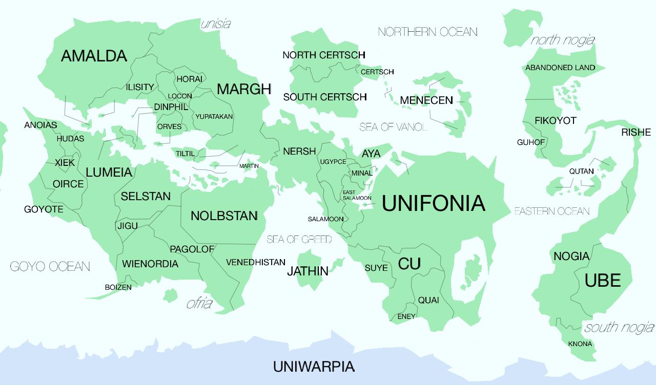 各大陸に名前をつけました。 : 世界地図 名前 : 世界地図