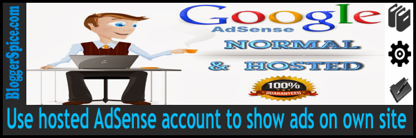 hosted AdSense account