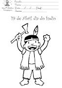 Indios para Pintar (atividades dia do indio desenhos para colorir )