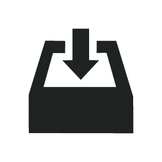 Business download mono icon
