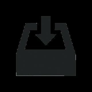 Business download mono icon