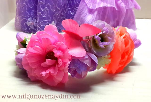 www.nilgunozenaydin.com-diy-kendinyap-çiçekli taç-flower crown-floral crown-floral hairband-çiçekli taç yapımı