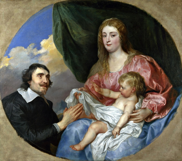 Anthony van Dyck - The Abbe Scaglia Adoring the Virgin and Child [1634-35]