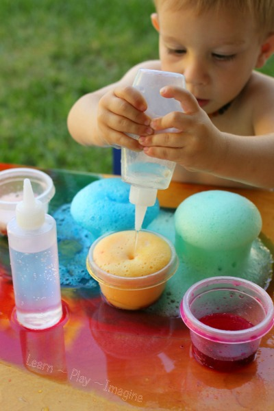 How to set up color surprise eruptions for kids.