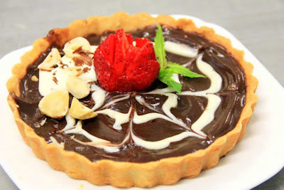 Hazelnut Chocolate Ganache Tart