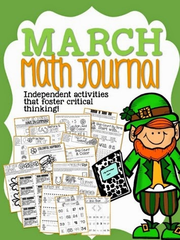 http://www.teacherspayteachers.com/Product/March-Math-Journal-1114668