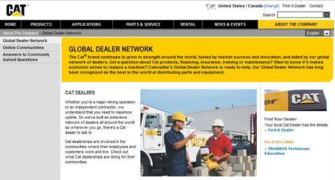 Cat Global Dealer Network