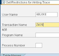 SAP ST05 trace by transaction name