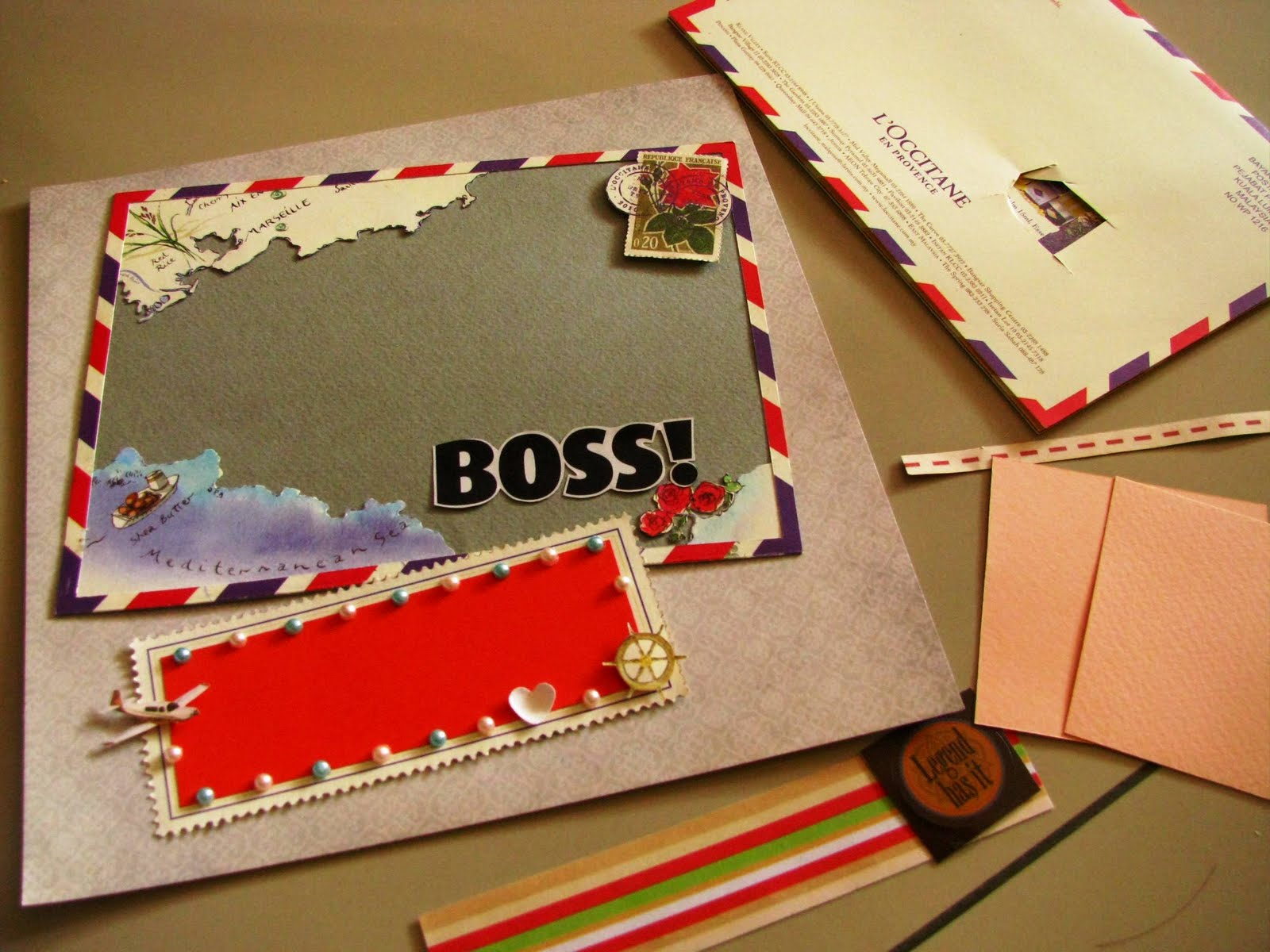 How to scrapbook materials - I Visited Some Craft Shops And Noticed That Scrapbook Materials Can Cost A Bomb So Here I M Trying To Use Mostly Recyclable Materials The L Occitane