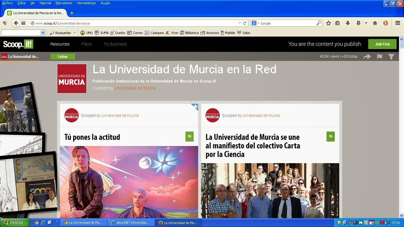 La Universidad de Murcia en la Red.