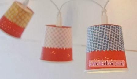 Đèn cốc giấy handmade trang trí lung linh