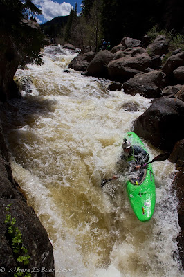 Dave Fusilli charging down Homestake Creek, chris baer, gopro, mountain games, vail, red clif