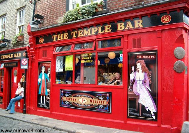 Temple Bar es el lugar con más pubs de Dublín