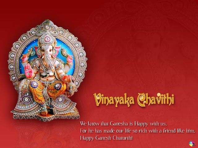 For he has made our life so rich with a friend like him.  Happy Ganesh Chaturthi