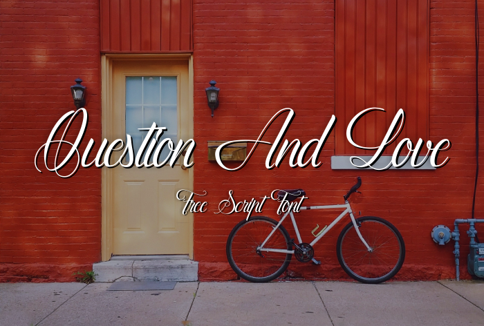 Download Kumpulan 30 Font Script Desainer grafis - Question And Love Font