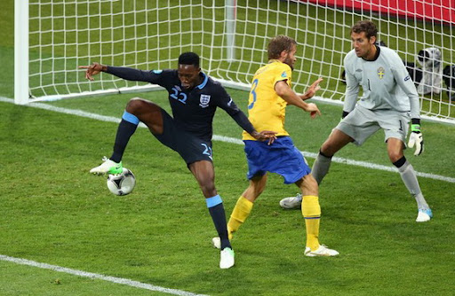 England forward Danny Welbeck scores a brilliant backheel winner against Sweden