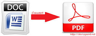 Convert MS Word File to PDF Format